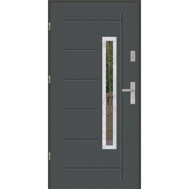 Drzwi wejściowe stalowe model PREMIUM GALA 83 INOX