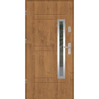 Drzwi wejściowe stalowe model PREMIUM GALA 87 INOX