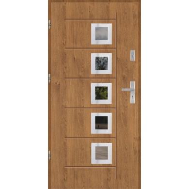Drzwi wejściowe stalowe model PREMIUM GALA T 141 INOX
