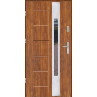 Drzwi wejściowe stalowe model PREMIUM GALA 144 INOX