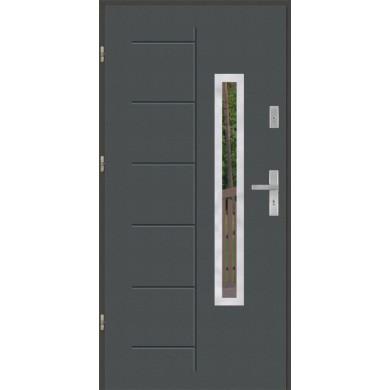 Drzwi wejściowe stalowe model PREMIUM GALA 176 INOX