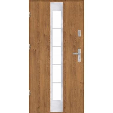 Drzwi wejściowe stalowe model PREMIUM PLUS PŁASKIE 26 INOX