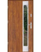 Drzwi wejściowe stalowe model PREMIUM PLUS PŁASKIE 27 INOX