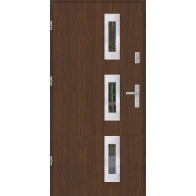Drzwi wejściowe stalowe model PREMIUM PLUS PŁASKIE 28 INOX