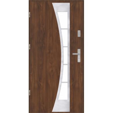 Drzwi wejściowe stalowe model PREMIUM PLUS PŁASKIE 40 INOX