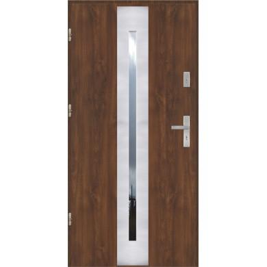 Drzwi wejściowe stalowe model PREMIUM PLUS PŁASKIE 41 INOX