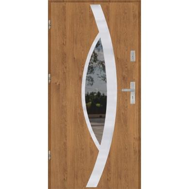 Drzwi wejściowe stalowe model PREMIUM PLUS PŁASKIE 46 INOX