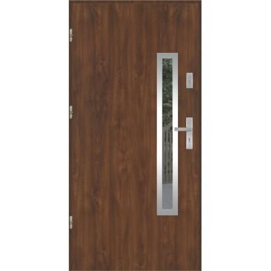 Drzwi wejściowe stalowe model PREMIUM PLUS PŁASKIE 76 INOX