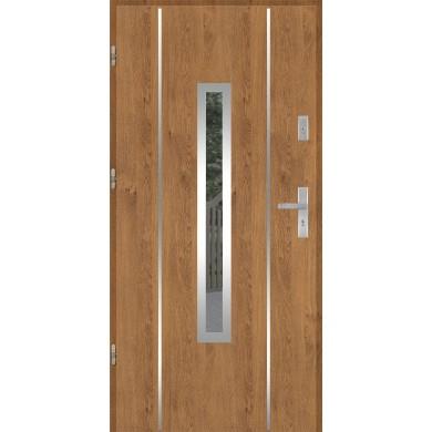 Drzwi wejściowe stalowe model PREMIUM PLUS PŁASKIE 79 INOX