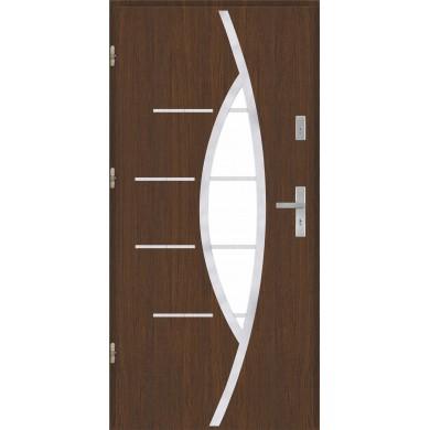 Drzwi wejściowe stalowe model PREMIUM PLUS PŁASKIE 80 INOX