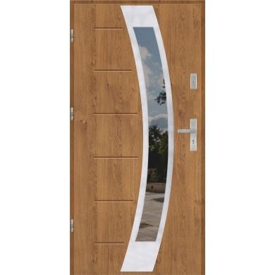 Drzwi wejściowe stalowe model PREMIUM PLUS GALA 31 INOX