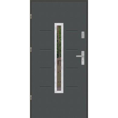Drzwi wejściowe stalowe model PREMIUM PLUS GALA 74 INOX