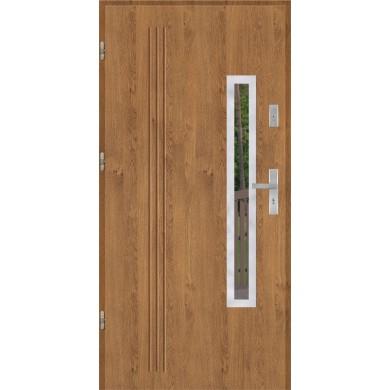 Drzwi wejściowe stalowe model PREMIUM PLUS GALA 78 INOX