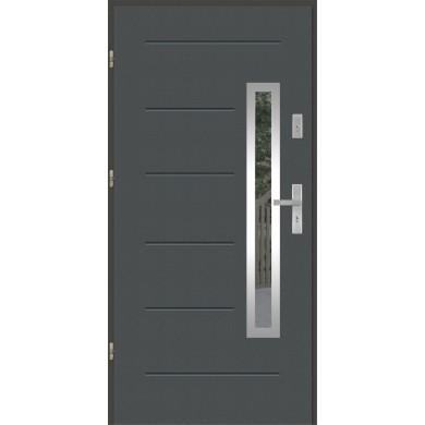 Drzwi wejściowe stalowe model PREMIUM PLUS GALA 81 INOX