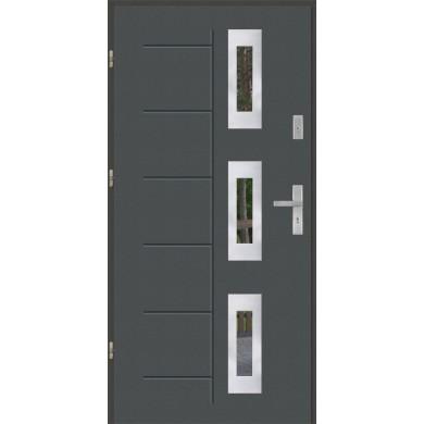 Drzwi wejściowe stalowe model PREMIUM PLUS GALA 128 INOX