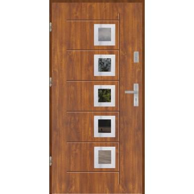 Drzwi wejściowe stalowe model PREMIUM PLUS GALA T 141 INOX