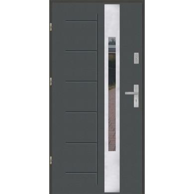 Drzwi wejściowe stalowe model PREMIUM PLUS GALA 144 INOX