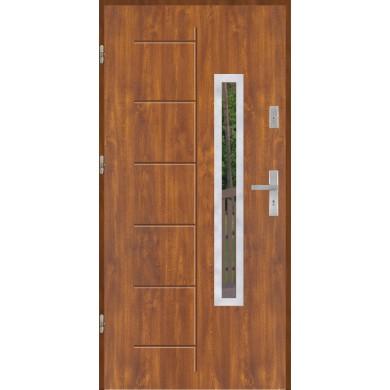 Drzwi wejściowe stalowe model PREMIUM PLUS GALA 176 INOX