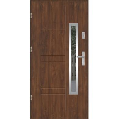 Drzwi wejściowe stalowe model PREMIUM PLUS GALA 177 INOX