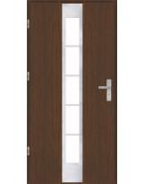 Drzwi wejściowe stalowe model OPTITERM PŁASKIE 26 INOX