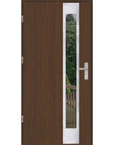 Drzwi wejściowe stalowe model OPTITERM PŁASKIE 27 INOX