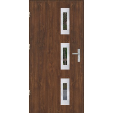Drzwi wejściowe stalowe model OPTITERM PŁASKIE 28 INOX
