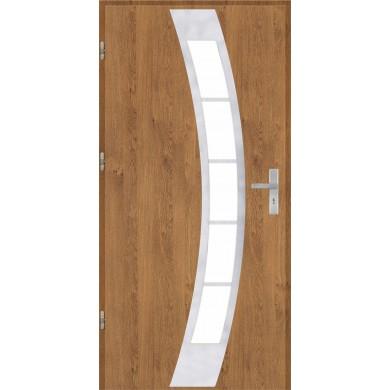Drzwi wejściowe stalowe model OPTITERM PŁASKIE 31 INOX