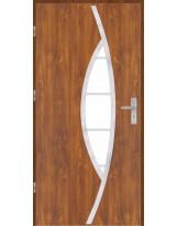 Drzwi wejściowe stalowe model OPTITERM PŁASKIE 32 INOX