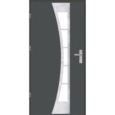 Drzwi wejściowe stalowe model OPTITERM PŁASKIE 40 INOX