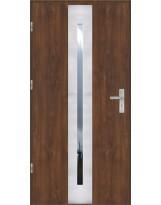 Drzwi wejściowe stalowe model OPTITERM PŁASKIE 41 INOX