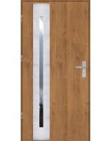 Drzwi wejściowe stalowe model OPTITERM PŁASKIE 42 INOX