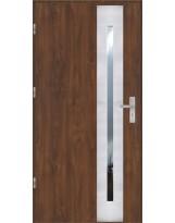 Drzwi wejściowe stalowe model OPTITERM PŁASKIE 43 INOX