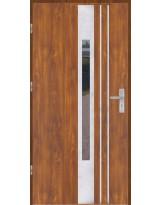Drzwi wejściowe stalowe model OPTITERM PŁASKIE 44 INOX