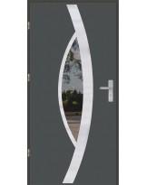 Drzwi wejściowe stalowe model OPTITERM PŁASKIE 46 INOX