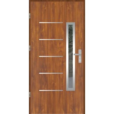 Drzwi wejściowe stalowe model OPTITERM PŁASKIE 71 INOX
