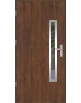 Drzwi wejściowe stalowe model OPTITERM PŁASKIE 76 INOX