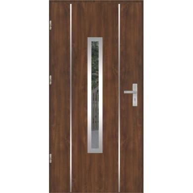 Drzwi wejściowe stalowe model OPTITERM PŁASKIE 79 INOX