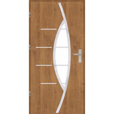 Drzwi wejściowe stalowe model OPTITERM PŁASKIE 80 INOX