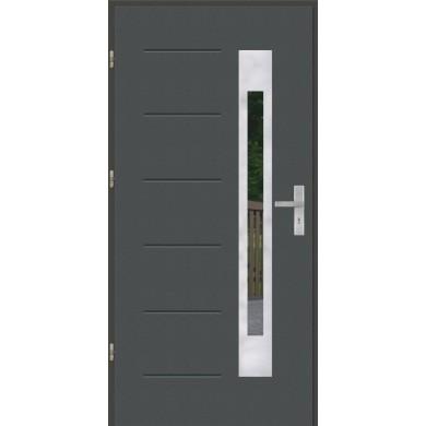 Drzwi wejściowe stalowe model OPTITERM GALA 23 INOX