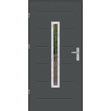 Drzwi wejściowe stalowe model OPTITERM GALA 73 INOX