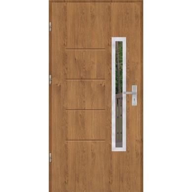 Drzwi wejściowe stalowe model OPTITERM GALA 77 INOX