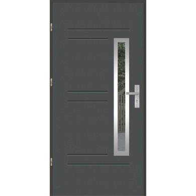 Drzwi wejściowe stalowe model OPTITERM GALA 87 INOX