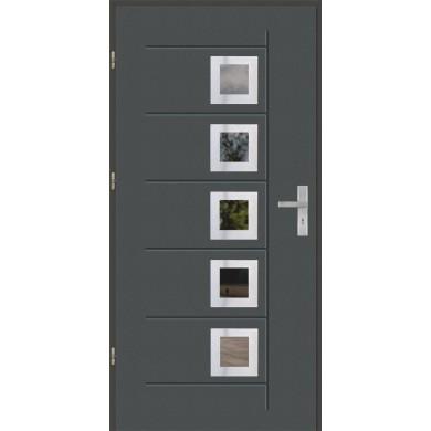 Drzwi wejściowe stalowe model OPTITERM GALA T 141 INOX
