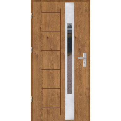 Drzwi wejściowe stalowe model OPTITERM GALA 144 INOX