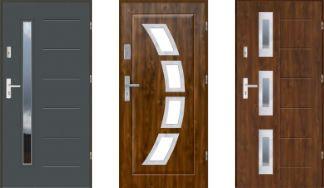 Drzwi wejściowe EKO-NORM 55 mm Szklone