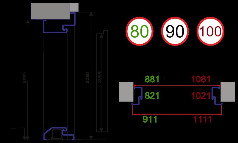 Wymiary Drzwi EKO 55