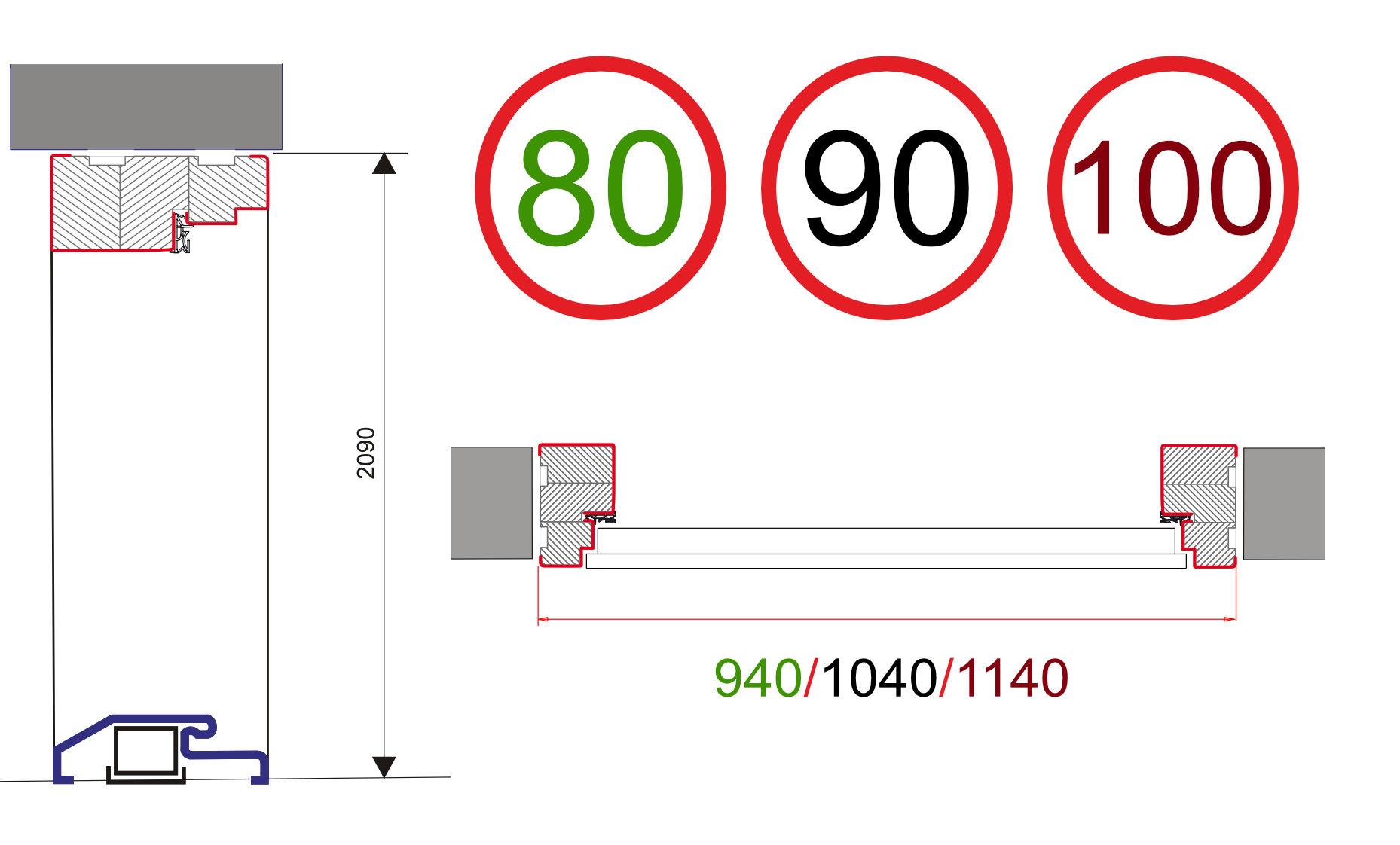 Wymiary Drzwi OPTITERM101
